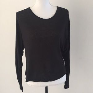 H&M long sleeve open back t shirt size 4